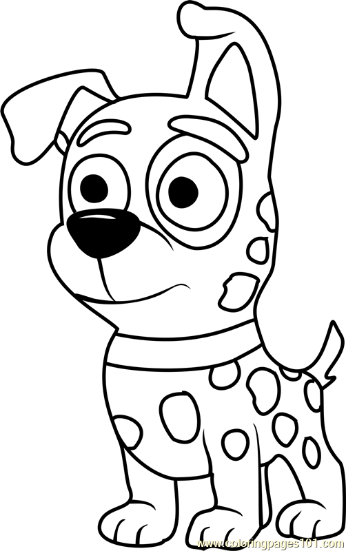 502x800 Pound Puppies Patches Coloring Page