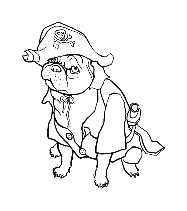 600x677 Pug Coloring Pages Halloween Pug Coloring Pages