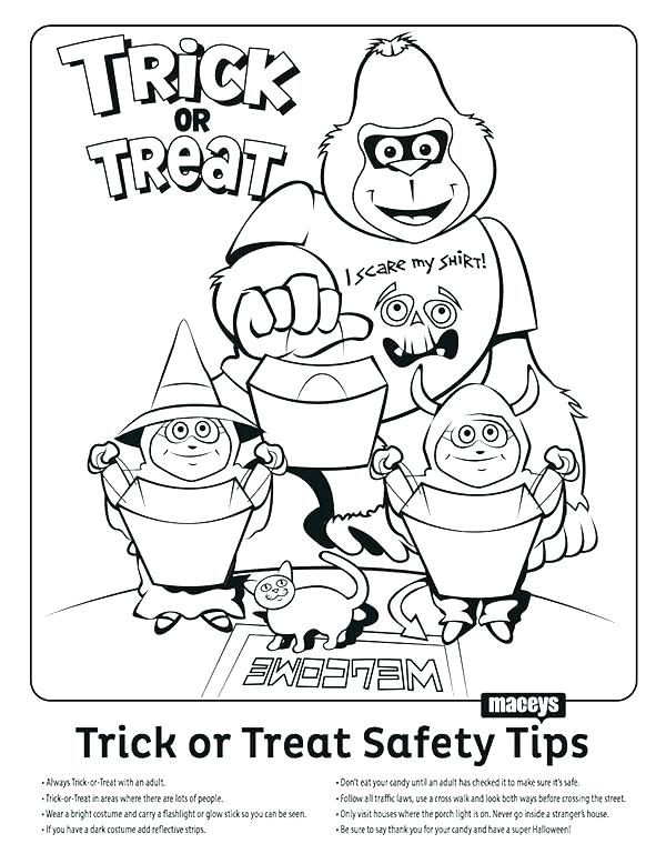 600x778 Halloween Safety Coloring Pages Safety Coloring Pages Educational