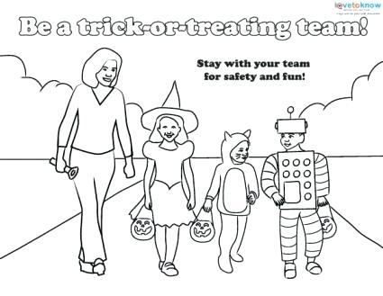 425x329 Halloween Safety Coloring Pages Safety Coloring Sheet Free