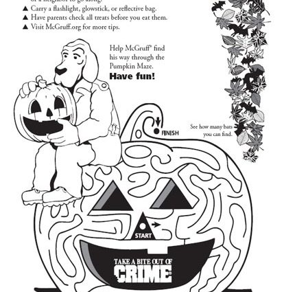414x425 Halloween Safety Coloring Pages