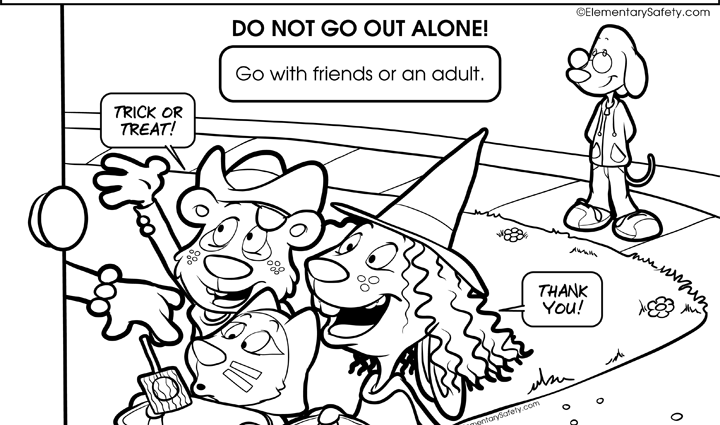 720x425 Halloween Safety Coloring Pages Coloring Halloween Safety Ideas