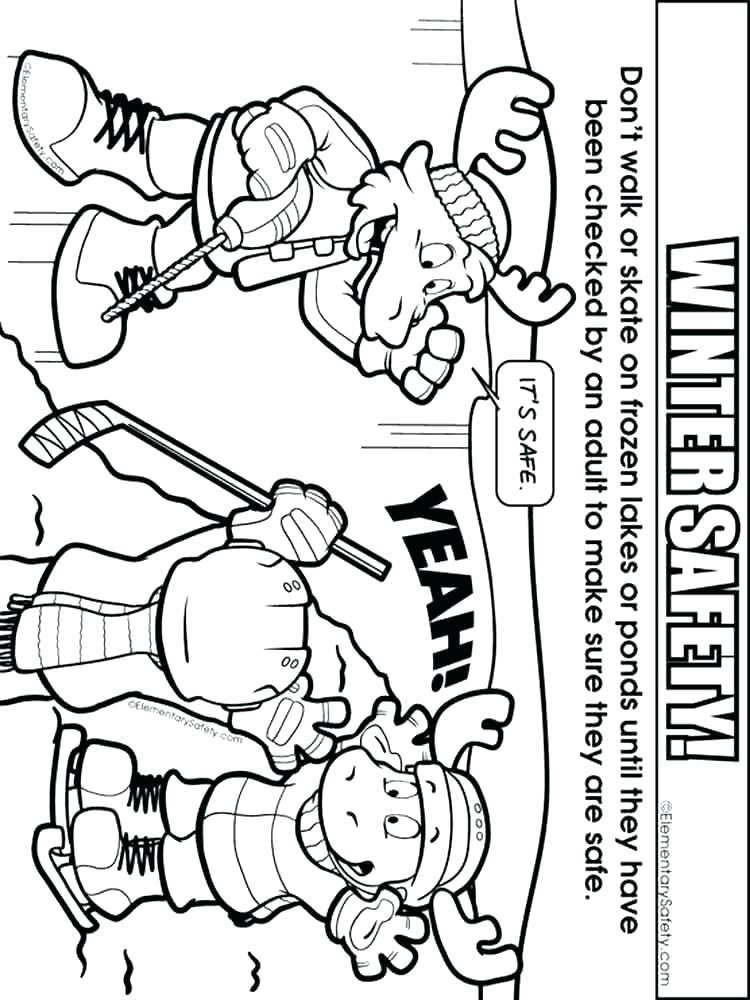 750x1000 Safety Coloring Pages