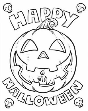 309x390 Happy Halloween Coloring Pages Halloween Scene Coloring Page