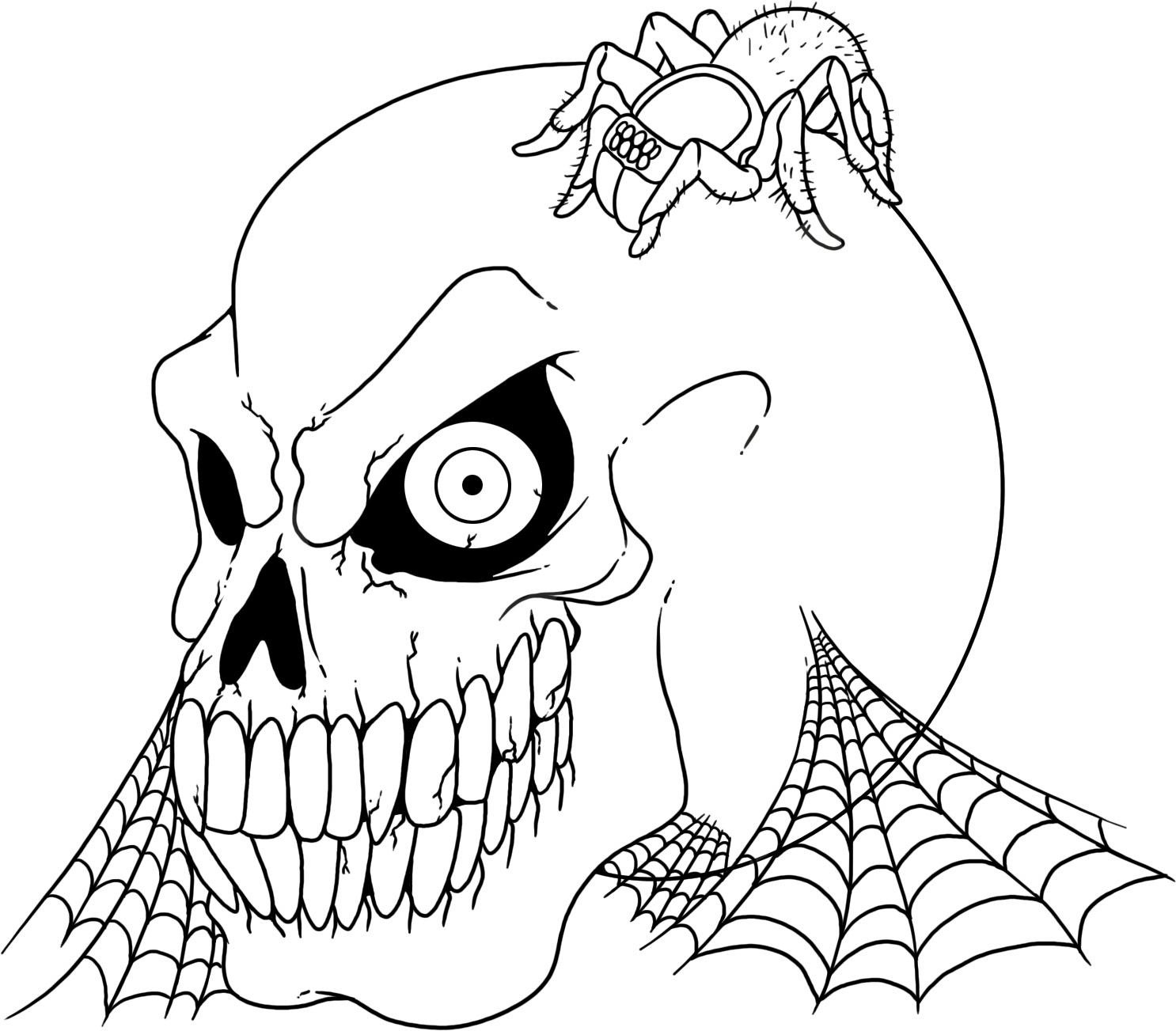 1486x1303 Free Printable Skull Coloring Pages For Kids