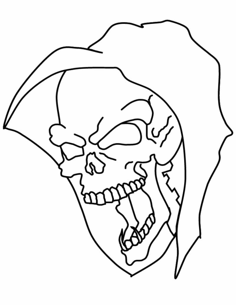 800x1034 Halloween Skull Coloring Pages Halloween Ideas