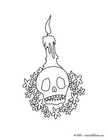 364x470 Halloween Skull Coloring Pages