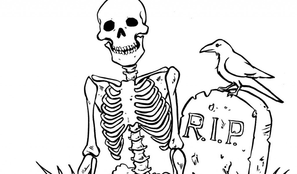 1024x600 Skull Halloween Coloring Pages Free Coloring Pages For Kids