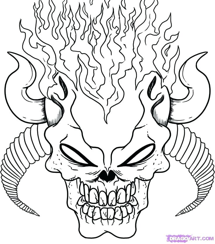 736x837 Skulls Coloring Pages Cool Coloring Pages Of Skulls Halloween