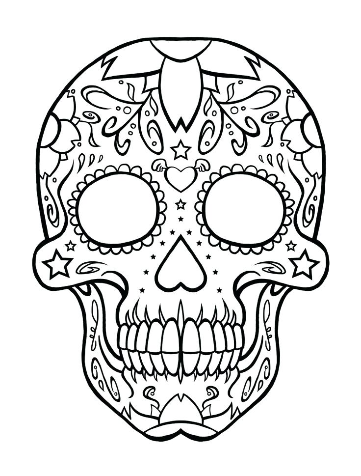 736x969 Skulls Coloring Pages Image Of Skull Coloring Pages To Print
