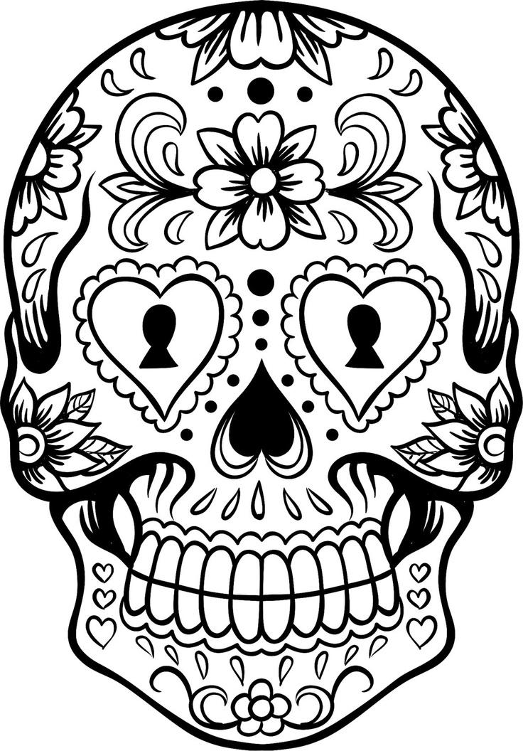 736x1056 Coloring Pages Of Skulls Sugar Skulls Coloring Pages Sugar Skull
