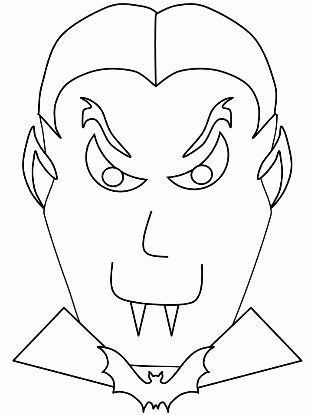 1024x1366 Dracula Coloring Pages