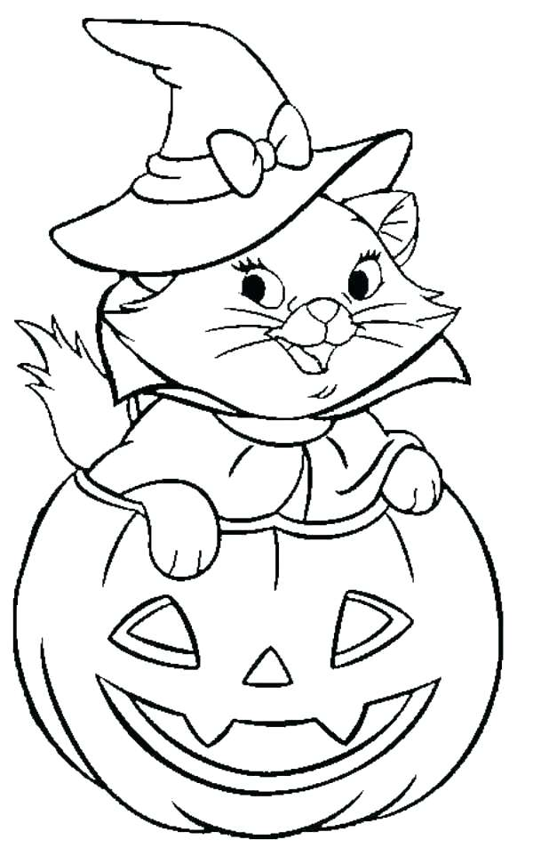 600x962 Halloween Witch Coloring Page