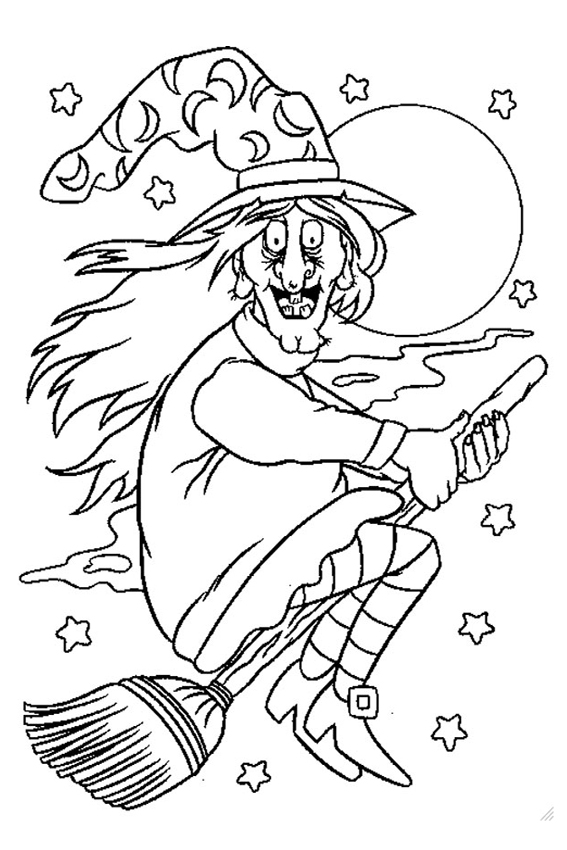 567x850 Halloween Coloring Pages From Monsters, Witches, Ghosts, Etc