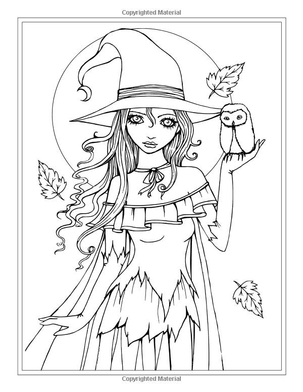600x776 Vampire Coloring Pages Autumn Fantasy Coloring Book Halloween