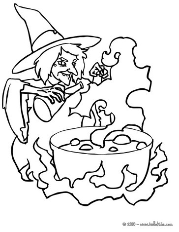 364x470 Witch Coloring Pages