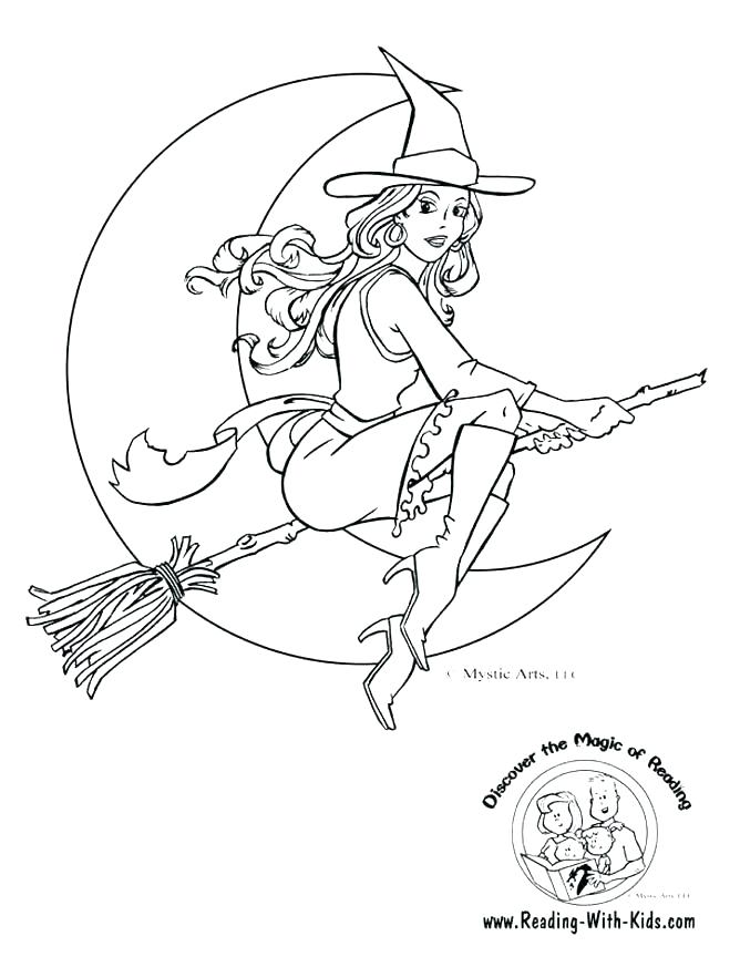 668x864 Happy Halloween Witch Coloring Pages