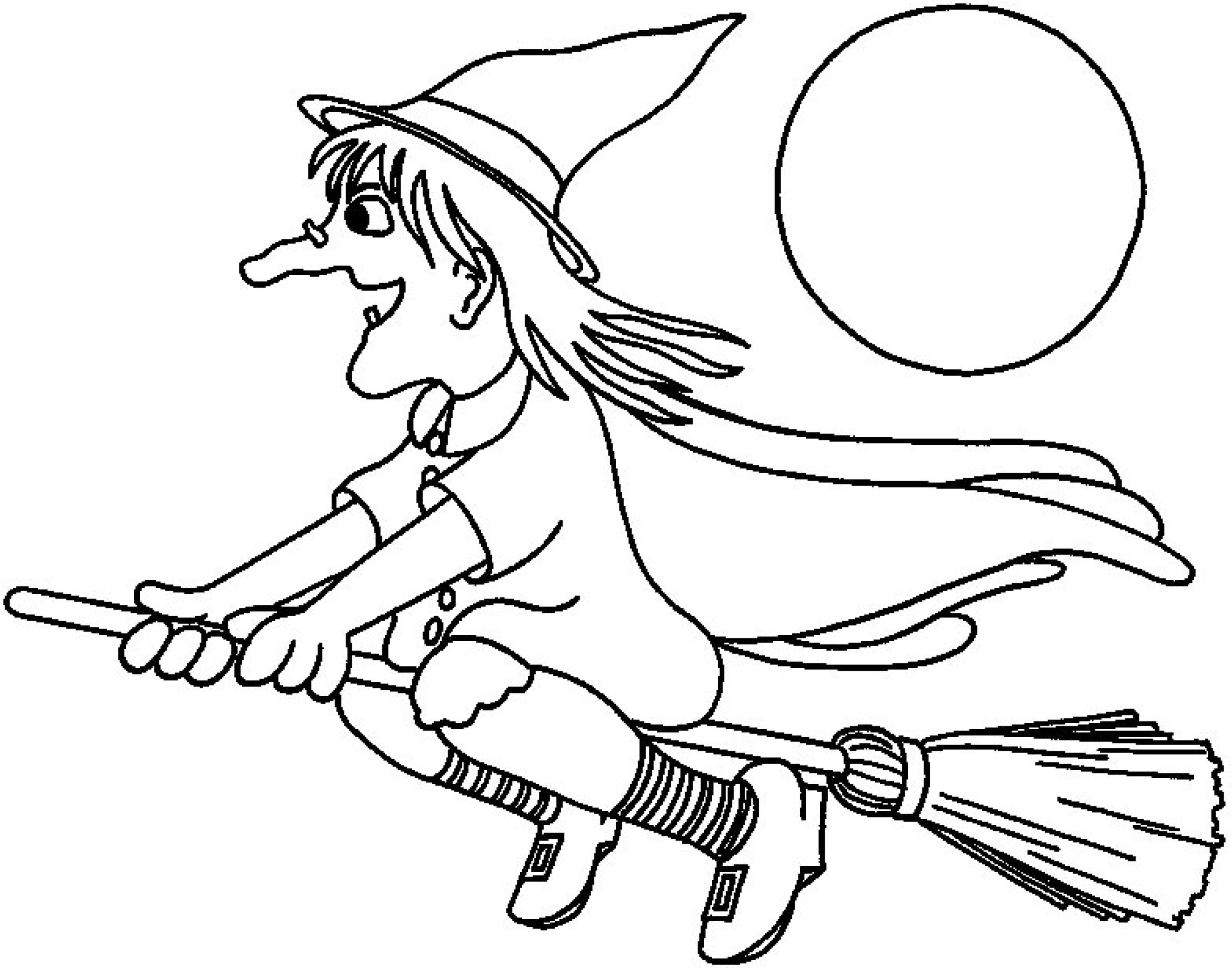 2172x1706 Witch Coloring Pages