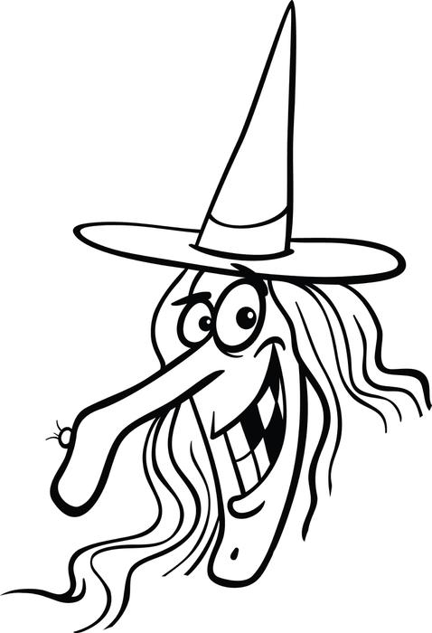 478x700 Witch Face Coloring Pages Free Printable Halloween Witch Coloring