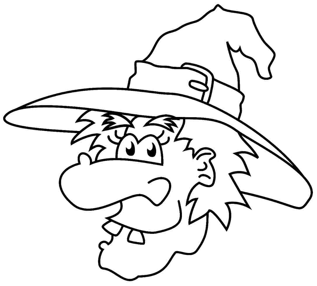1086x978 Free Printable Halloween Witch Coloring Page