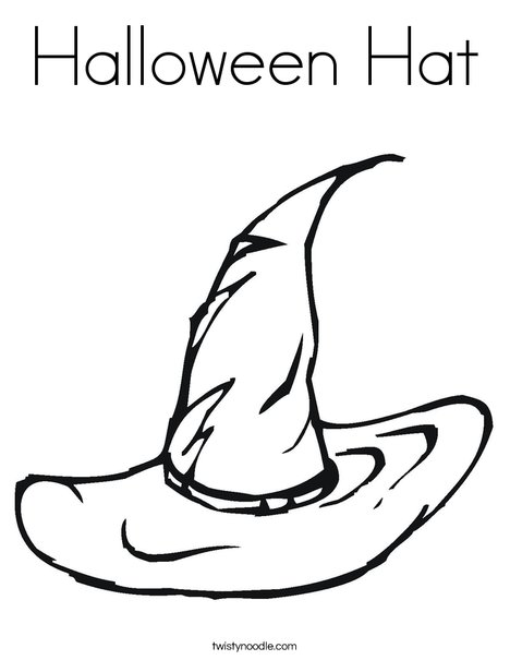 468x605 Halloween Hat Coloring Page