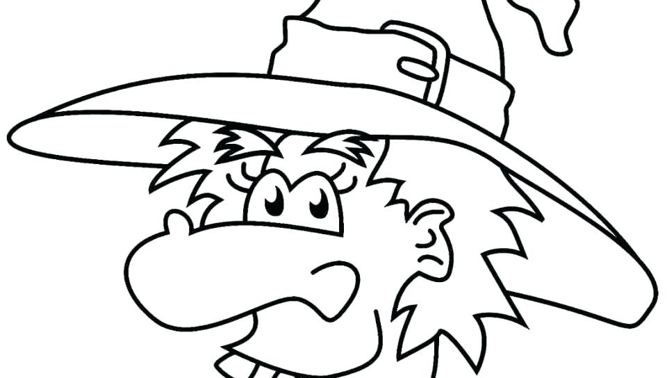 960x544 Halloween Witch Coloring Pages And Witch Hat Coloring Pages