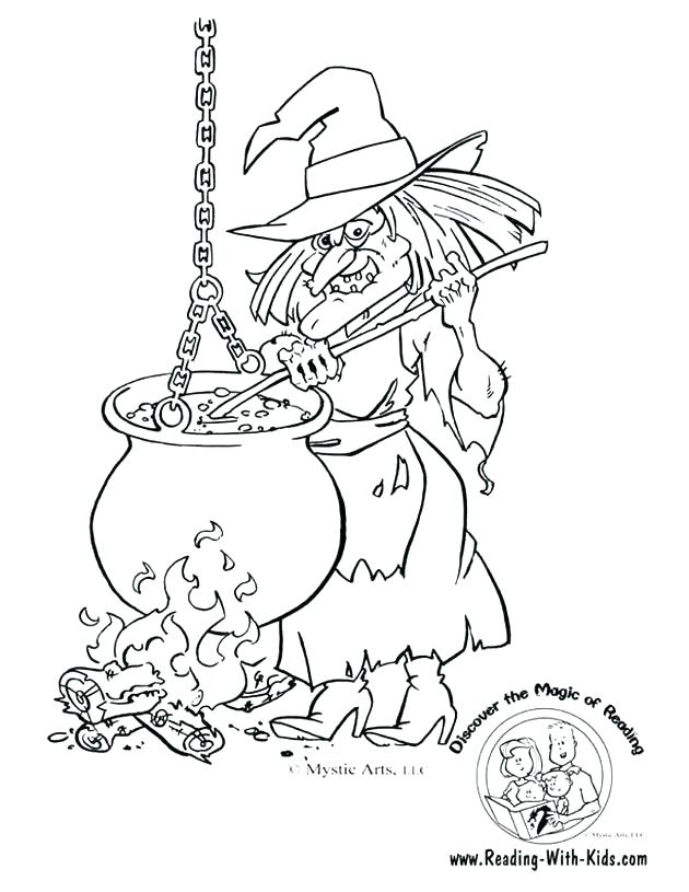 630x815 Halloween Witch Coloring Pages Free Of Witches Hats Wicked