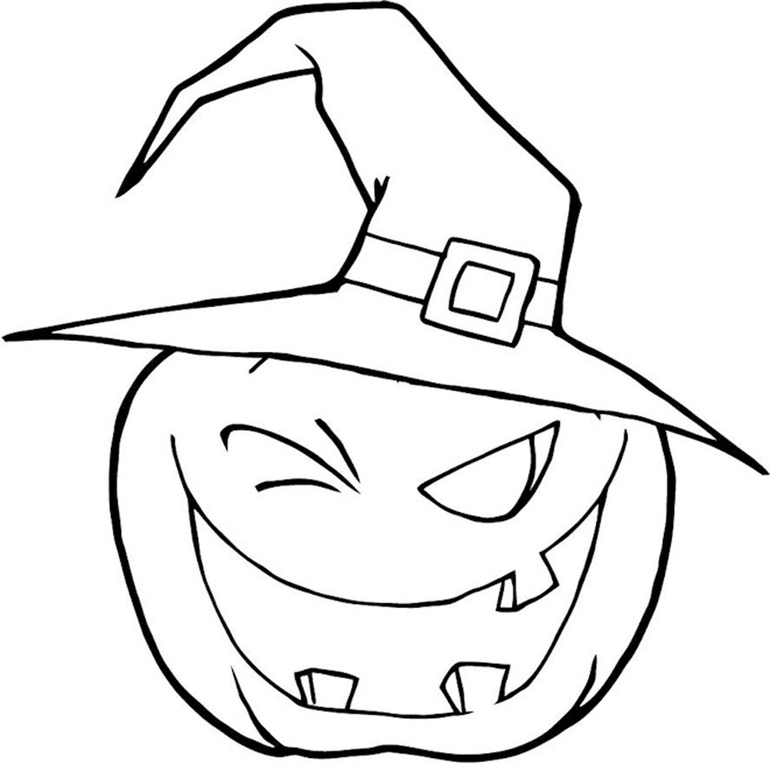 2550x2531 Halloween Witches Hat Coloring Page