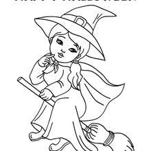 220x220 Witch's Hat Coloring Pages