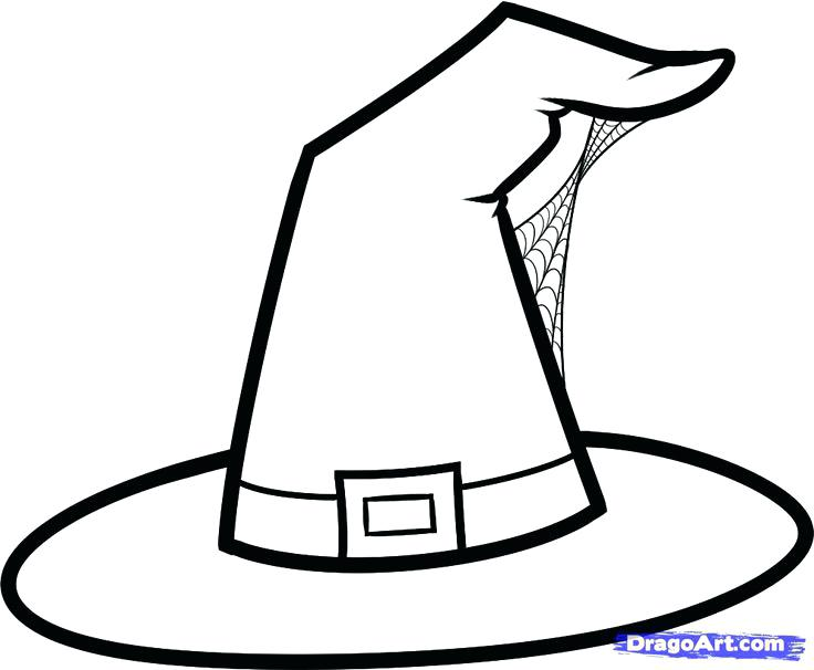 736x606 Witch Coloring Page Witch Hat Coloring Pages Google Search Scary