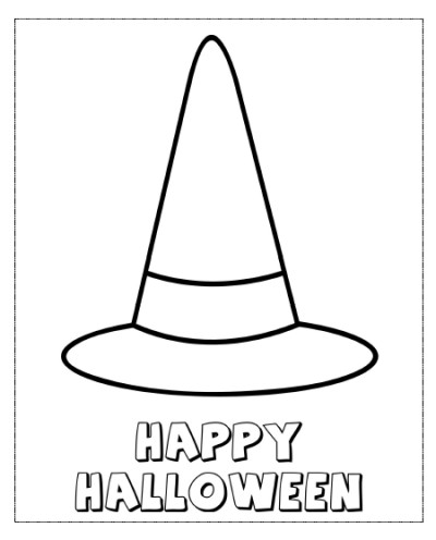 400x496 Witch Hat Coloring Pages