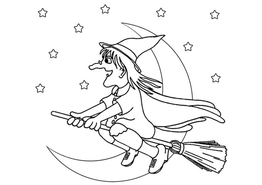 850x600 Witch Printable Free Printable Halloween Witch Hat Coloring Page