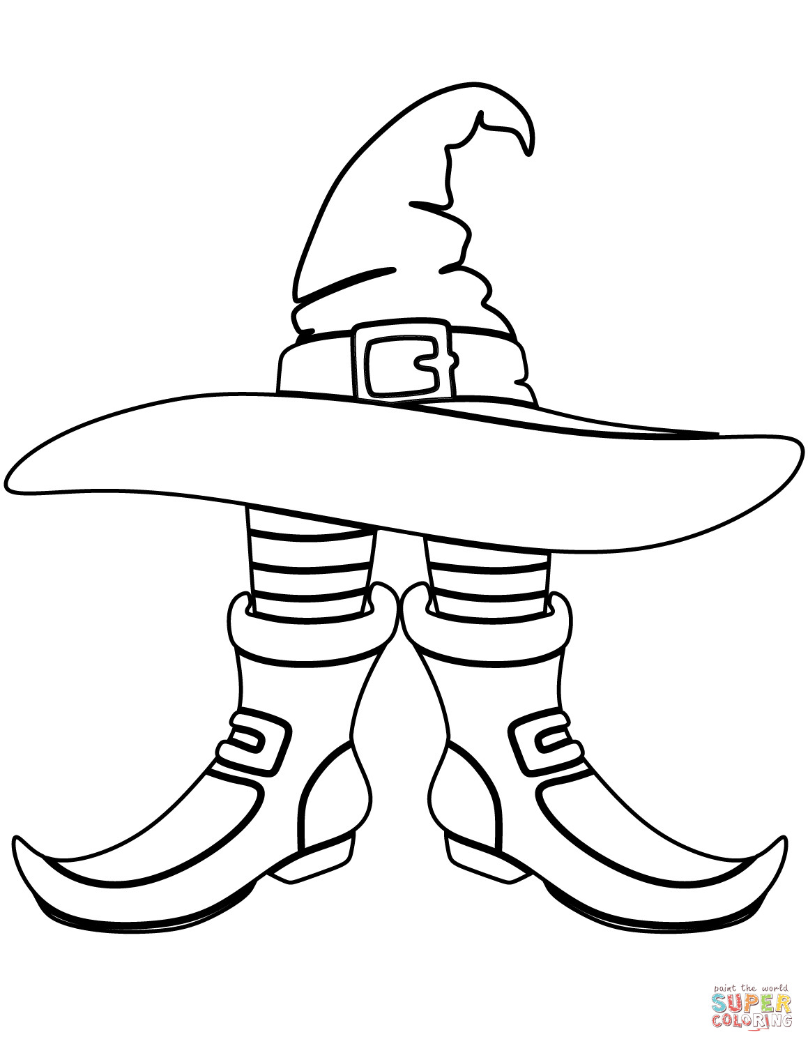 1159x1500 Witches Hat Coloring Page Tixac