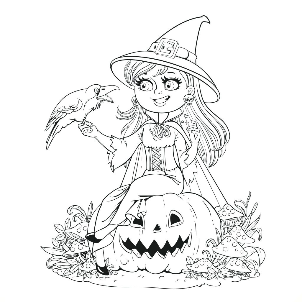 1024x1024 Coloring Page Witches Coloring Pages Pictures Of To Print
