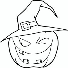 236x234 Free Printable Witch Hat Coloring Page For Kids Happy Birthday