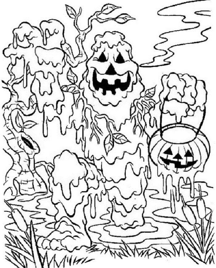 700x866 Scary Coloring Pages For Adults Unique Scary Halloween Coloring