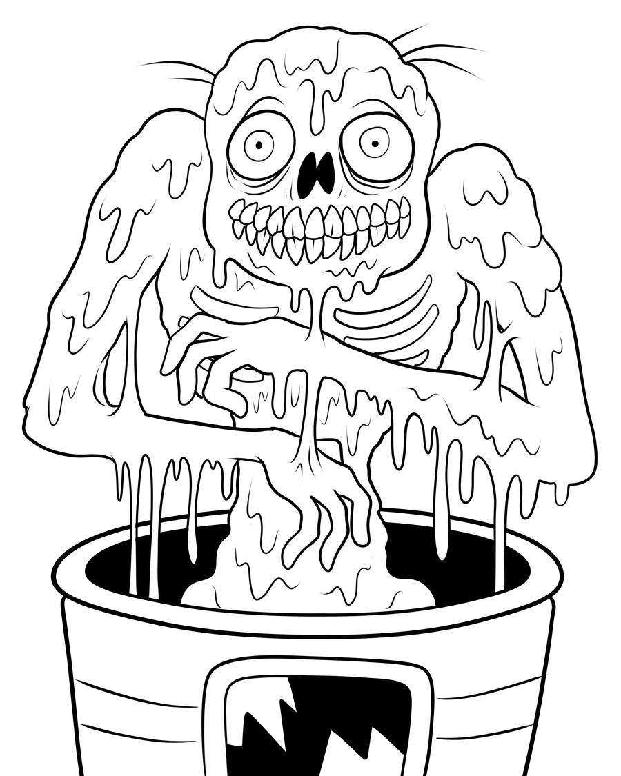 900x1125 Scary Halloween Zombie Coloring Pages