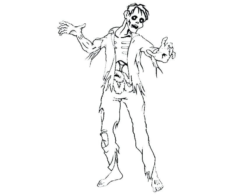800x667 Halloween Zombie Coloring Pages Zombie Pictures To Color Zombie