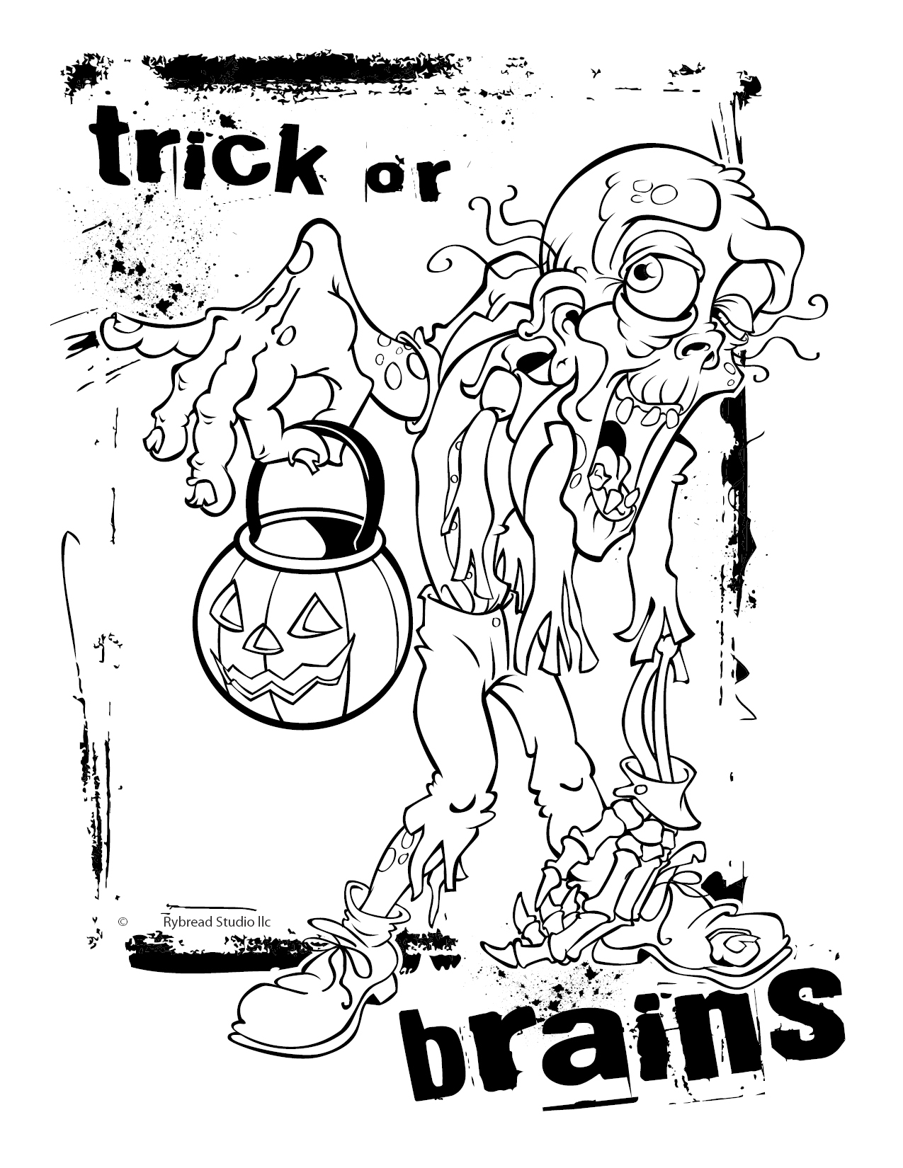 1275x1650 Marvelous Design Inspiration Halloween Coloring Pages Zombie Adult