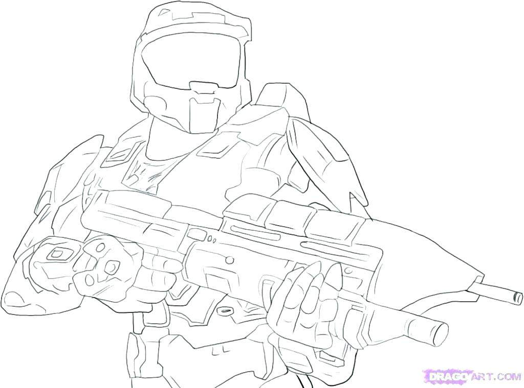 1024x760 Halo Coloring Pages Drawn Rifle Halo Halo Printable Coloring