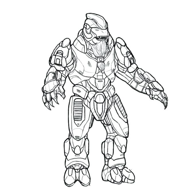 600x663 Halo Coloring Page Coloring Pages Of Halo For Kids Halo Coloring