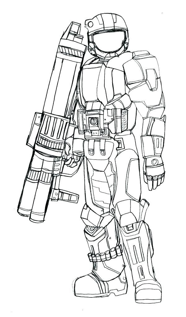 600x1021 Halo Coloring Page Halo Reach Coloring Pages Halo Reach Coloring