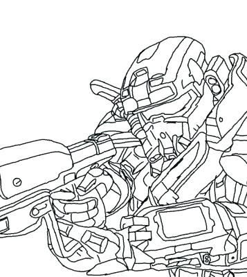 357x400 Printable Halo Coloring Pages For Kids Halo Coloring Pages