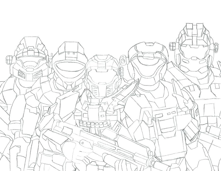 900x697 Halo Coloring Pages To Print