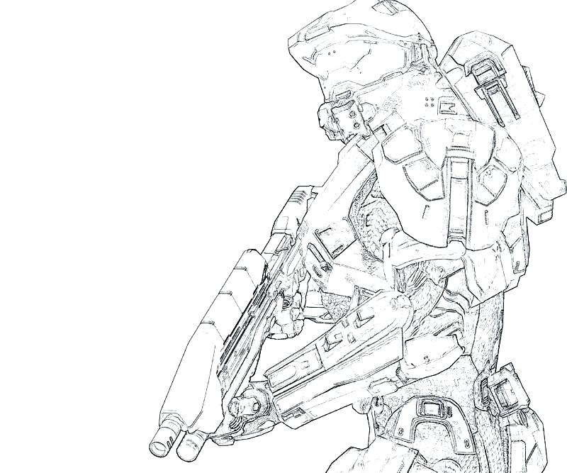 800x667 Halo Master Chief Coloring Pages