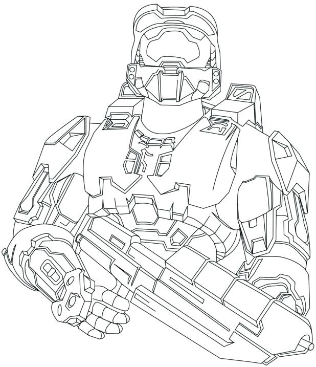618x717 Halo Coloring Pictures Printable Reach Pages Me Best Coloring