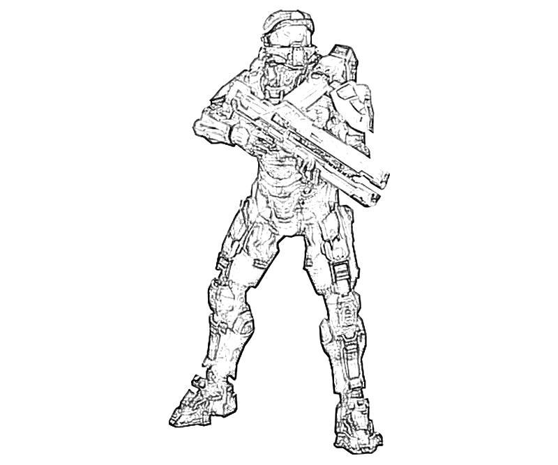 800x667 Halo John Gun How Coloring