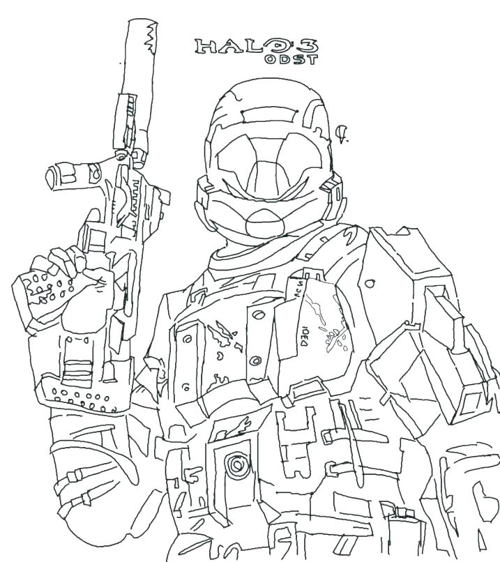 717x806 Halo Coloring Page Halo Coloring Pages To Print Halo Coloring Page