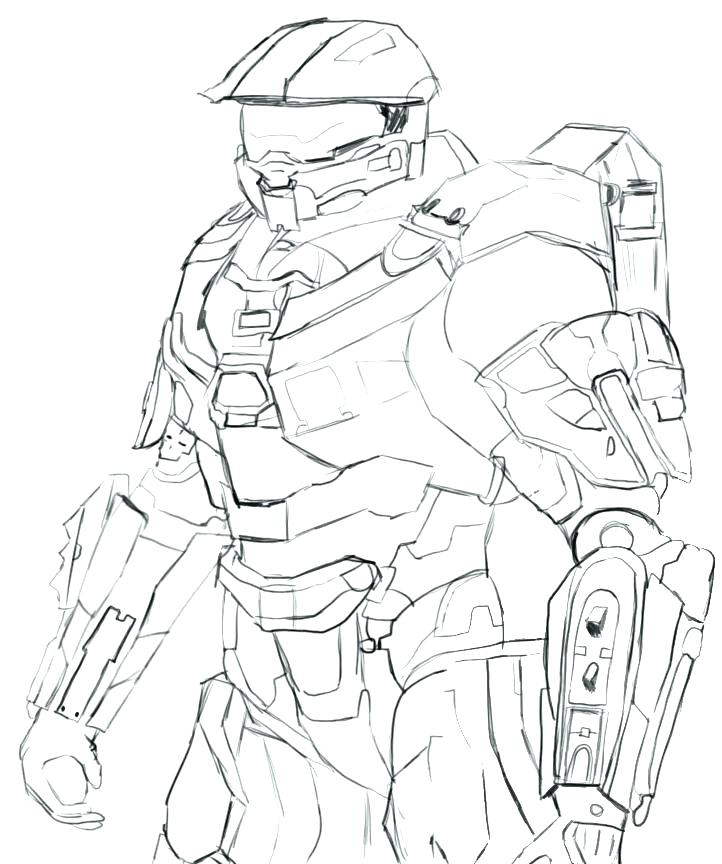 722x864 Good Halo Coloring Pages For Halo Coloring Pictures Good Halo