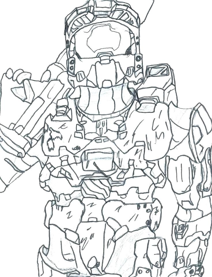 736x962 Halo Coloring Pages